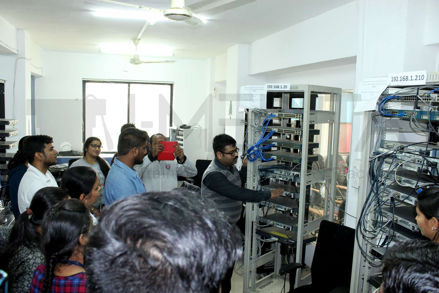 Industrial Visit at Pune's Biggest Cisco Training lab by Tikaram College of Arts, Science and Commerce