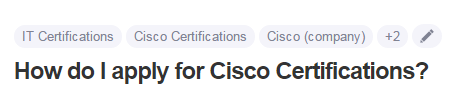 How do I apply for Cisco Certifications