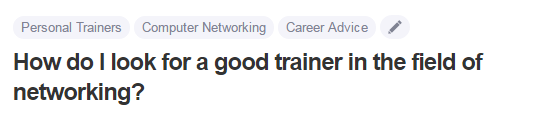 How do I look for a good trainer in the field of networking