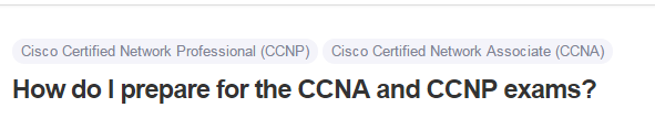 How do I prepare for the CCNA and CCNP exams