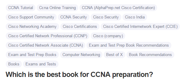 Which is the best book for CCNA preparation