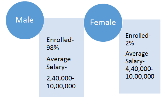 Male and Female Network Engineers Ratio by I-Medita