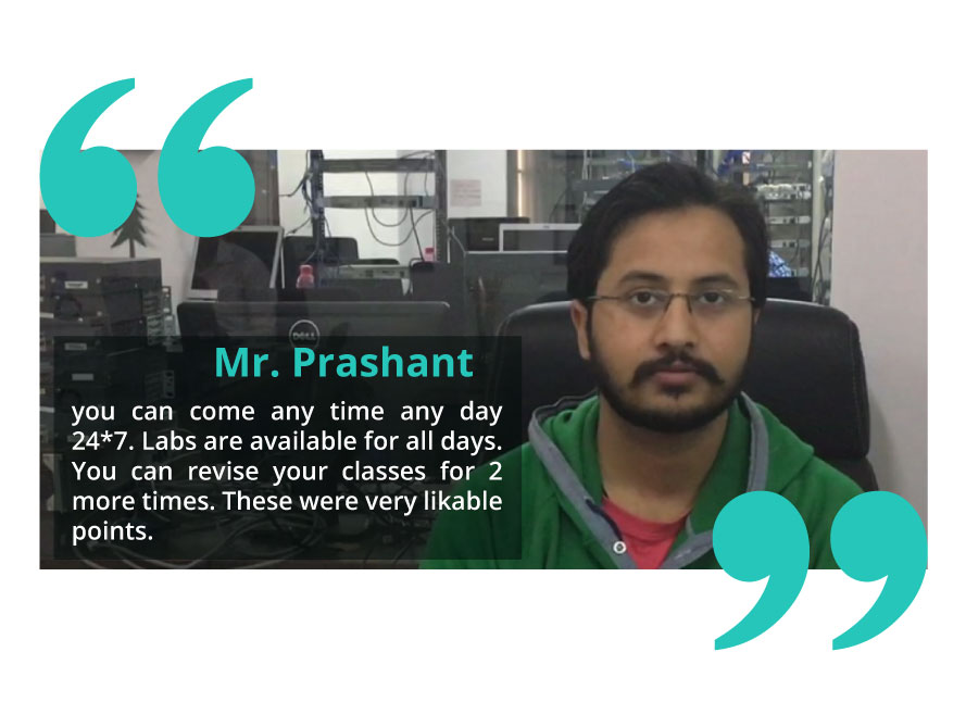 Mr. Prashant shares his experience on CCNA Routing and Switching Training at I-Medita.