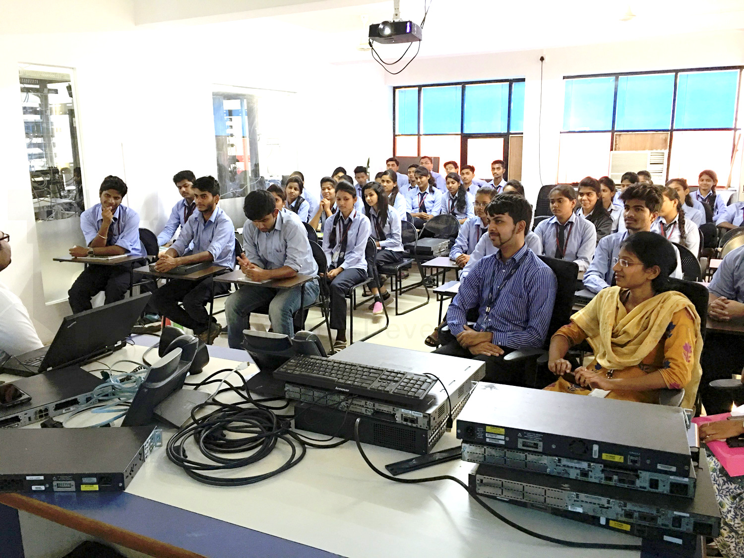 Zeal Polytechnic College visited I-Medita Cisco Training Labs