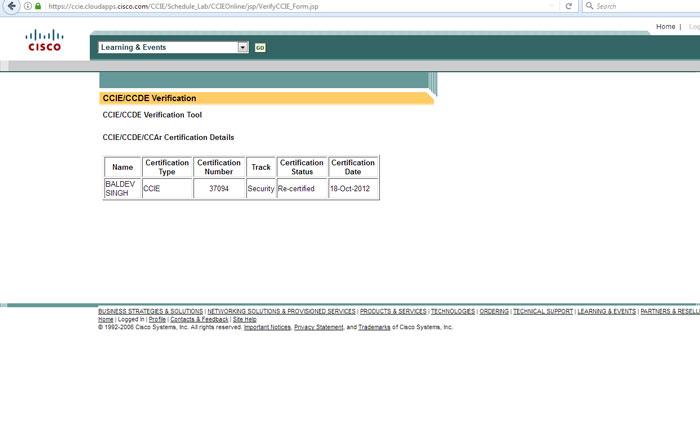 Cisco CCIE Verification Tool   How to Verify your CCIE number