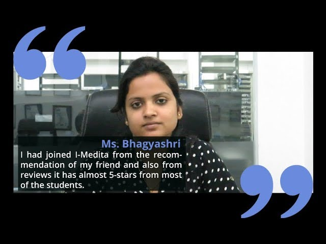 Ms Bhagyashri shares her training experience after CCNA Collaboration from I-Medita