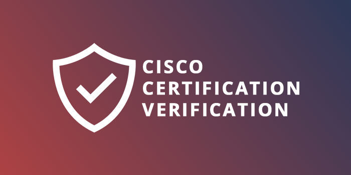 Cisco Certification Verification