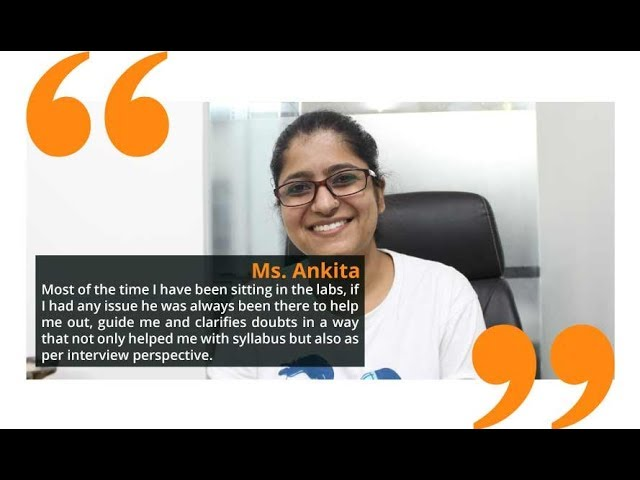 Ankita Got placed in GTT Communications and Wipro after training from I-Medita