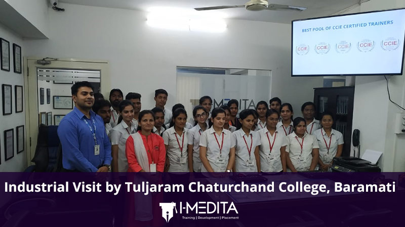 Industrial Visit by Tuljaram Chaturchand College, Baramati at I-Medita