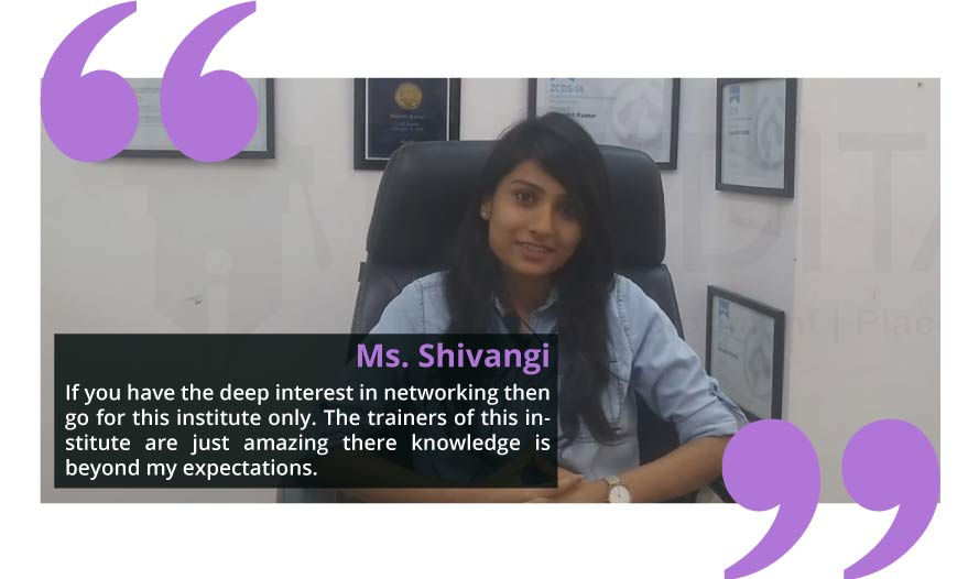 Ms Shivangi Placed in Huawei After Taking training from I-Medita