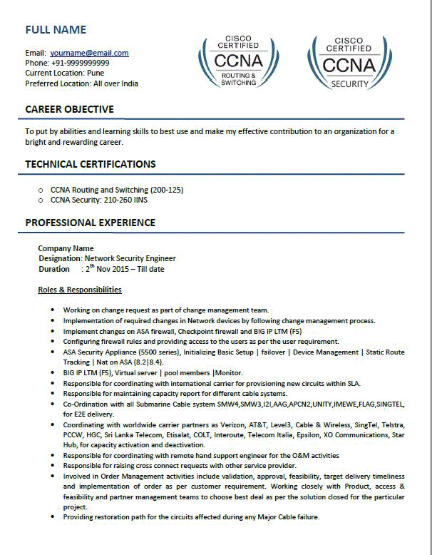 top 5 network security engineer resume samples in word